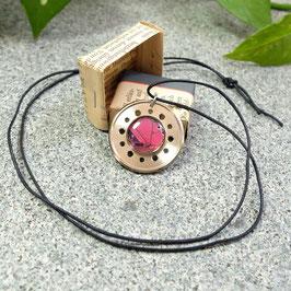 Abschlussring Halskette mit violetter Leiterplatte