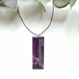Leiterplatten Halskette mit Resin violett 2
