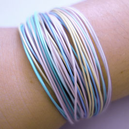 Bunte Drähte Armbänder H/W pastell