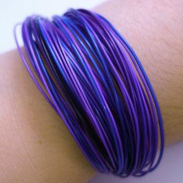 Bunte Drähte Armbänder H/W ultraviolett