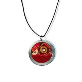 Distanzring Halskette mit roter Leiterplatte