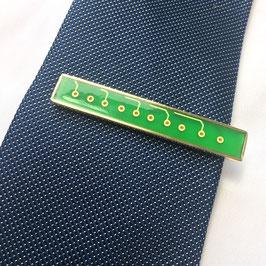 Leiterplatte Krawattennadel gold - hellgrün