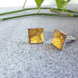 Chips Manschettenknöpfe eckig gold