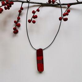 Sub-D Halskette rot