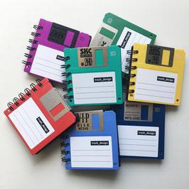 3,5'' Diskette Notizbuch bunt