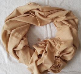 Flauschiger Kaschmir-, Pashmina-Schal im XL-Format, Farbverlauf, gold - beige