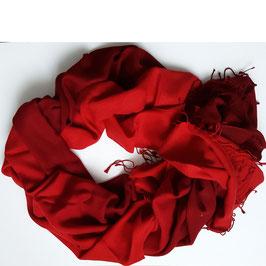 Flauschiger Kaschmir-, Pashmina-Schal im XL-Format, Farbverlauf, dunkelrot -rot