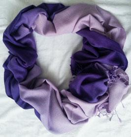 Flauschiger Kaschmir-, Pashmina-Schal im XL-Format, Farbverlauf, lila -flieder