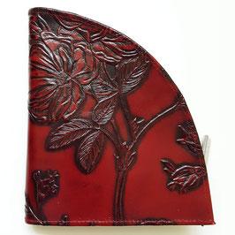 Rosen - Geldbörse, extravagantes Design, geprägtes Leder, von déqua, burgund und klassisches Rot