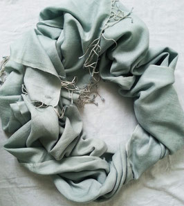 Flauschiger Kaschmir-, Pashmina-Schal im XL-Format, Farbverlauf, silber - grau