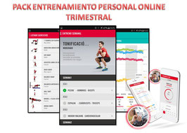 PACK ENTRENAMIENTO PERSONAL ONLINE TRIMESTRAL