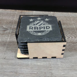 Glasuntersetzer-Set 6 Stk. SK Rapid Wien