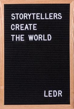 LEDR – Letterbord 30x45cm – inclusief 290 letters en cijfers – eiken frame – zwart vilt