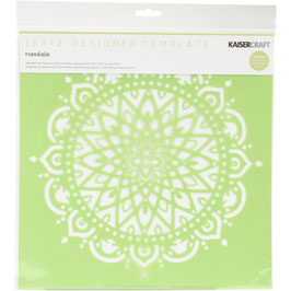 Kaisercrafts Mandala Stencil/sjabloon 30,5 x 30,5 cm - kunststof