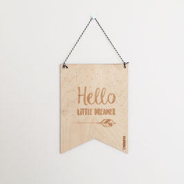 Hello little dreamer - Mini vaandel - MIEKinvorm