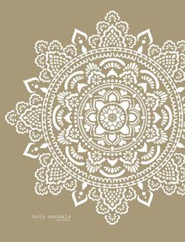 Holy Mandala Stencil/sjabloon 184 x 184 cm - kunststof