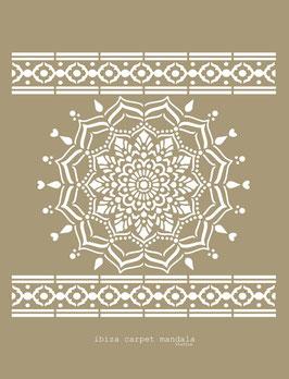 Ibiza Carpet Mandala Stencil/sjabloon 95 x 95 cm - kunststof
