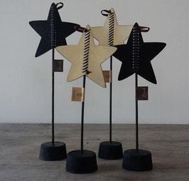 Bob design - Kerstster op standaard groot zwart/créme
