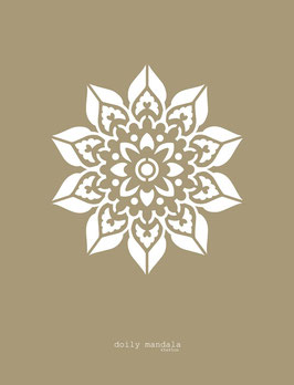 Doily Mandala Stencil/sjabloon 43 x 43 cm - kunststof