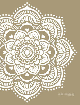 Yoga Mandala Stencil/sjabloon 116 x 116 cm - kunststof