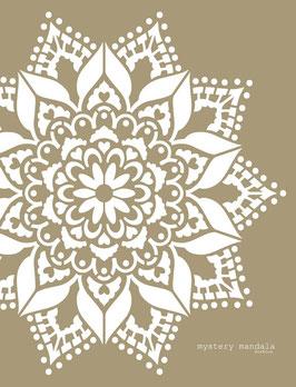 Mystery Mandala Stencil/sjabloon 80 x 80 cm - kunststof