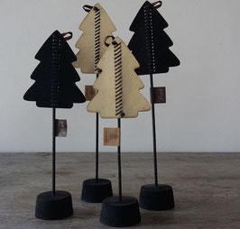 Bob design - Kerstboom op standaard klein zwart/créme