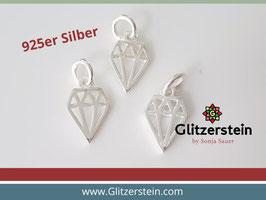 Anhänger Diamant 925 Silber