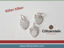 Anhänger Erdbeere 925 Silber