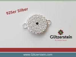 Schmuckverbinder Rund 925 Silber mit Zirkonia