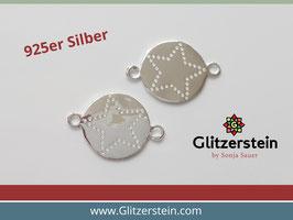 Schmuckverbinder Stern 925 Silber