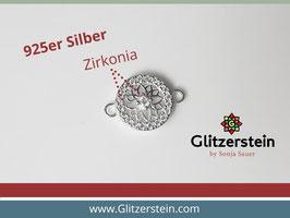 Schmuckverbinder Ornament  925 Silber mit Zirkonia