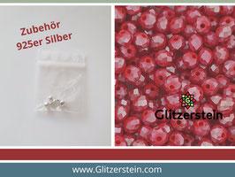DIY Armband Basic Set Glasperlen 3x4  mm (cherry red)