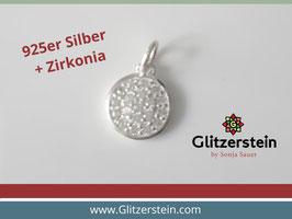 Anhänger rund mit Zirkonia 925 Silber