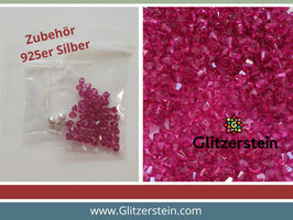 DIY Armband Basic Set Swarovski 4 mm (fuchsia)