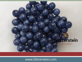 Farbgruppe 06/ Jade Box dunkelblau (18 Perlen in 8 mm/ gefärbt)