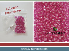 DIY Armband Basic Set Swarovski 6 mm (fuchsia)