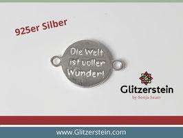 """Schmuckverbinder """"Die Welt ist voller Wunder"""" 925 Silber"""