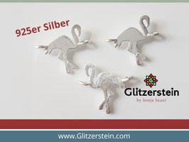 Schmuckverbinder Flamingo 925 Silber