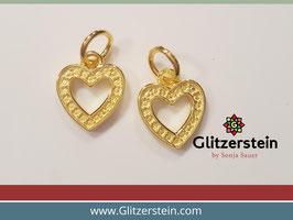 Anhänger Herz 925 Silber vergoldet