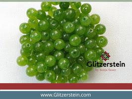 Farbgruppe 07/ Jade Box olivgrün (18 Perlen in 8 mm/ gefärbt)