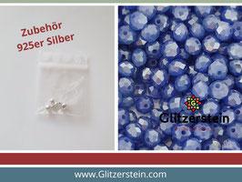 DIY Armband Basic Set Glasperlen 3x4  mm (stahl-blau)