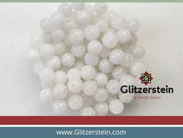 Farbgruppe 02/ Mondstein Box weiss mit leichtem Blauschimmer (18 Perlen in 8 mm)