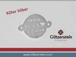 """Schmuckverbinder """"Ich bin stolz auf mich"""" 925 Silber"""