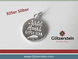 Anhänger Wild hearth gypsy soul 925 Silber