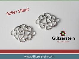 Schmuckverbinder Knoten 925 Silber (Variante 2)