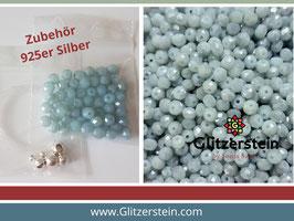 DIY Armband Basic Set Glasperlen 3x4  mm (aquamarine)