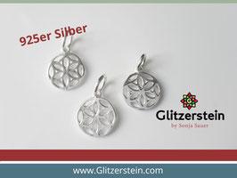 Anhänger Mandala 925 Silber 10 mm