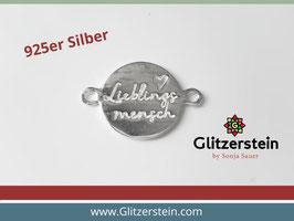 Schmuckverbinder Lieblingsmensch 925 Silber