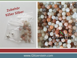DIY Armband Basic Set Edelsteine 6 mm (Mondstein Mix)