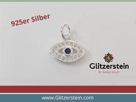 Anhänger Schützendes Auge mit Zirkonia 925 Silber